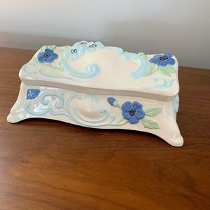 Vintage Accents - Vintage 50s Loma Products Floral Trinket Box Lid